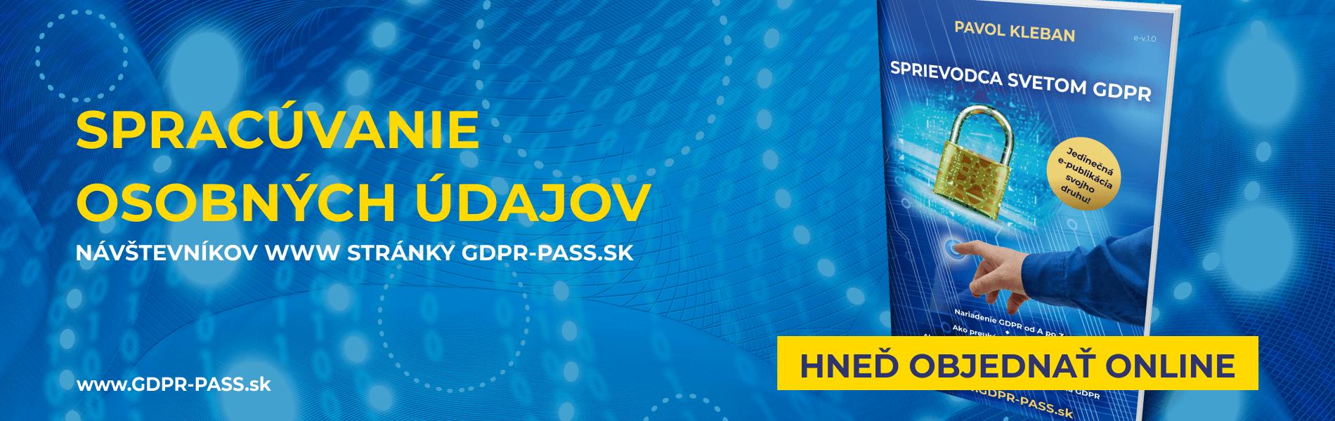 Spracúvanie osobných údajov | GDPR-PASS.sk